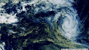 Cyclone Colin - Météosat Samedi 11/01/2014
