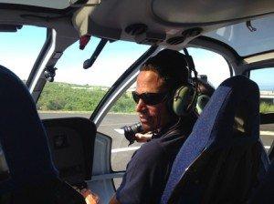 Cockpit hélicoptère Corail avant survol de l'Ile